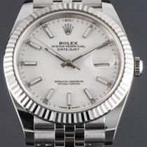 Rolex Datejust Сталь 41mm Белый Без цифр