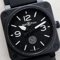 Bell & Ross Ceramic Automatic Black 46mm pre-owned BR 01-92