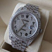 Rolex Datejust Stahl 41mm Blau Keine Ziffern Schweiz, Luzern