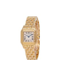 Cartier Panthère Yellow gold 22mm Champagne Roman numerals United States of America, New York, Hartsdale
