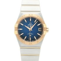 Omega Constellation Men Acero 38mm Azul