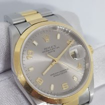 Rolex Oyster Perpetual Date Acero y oro 34mm Plata