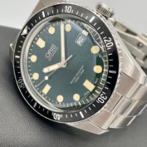 Oris Divers Sixty Five pre-owned 42mm Green Steel