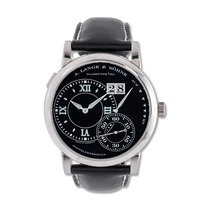 A. Lange & Söhne White gold Manual winding Black Roman numerals pre-owned Grand Lange 1