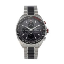 TAG Heuer Formula 1 Calibre 16 pre-owned 44mm Grey Chronograph Date Tachymeter Fold clasp