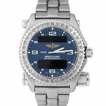 Breitling Emergency Steel 43mm Blue Arabic numerals
