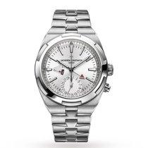 Vacheron Constantin Overseas Dual Time Steel 41mm Silver No numerals