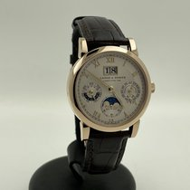 A. Lange & Söhne Red gold Automatic Silver Roman numerals 39mm pre-owned Langematik Perpetual