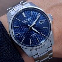 Seiko Presage Steel 39.3mm Blue No numerals