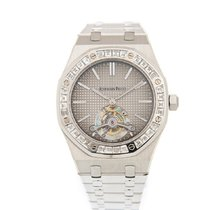 Audemars Piguet Royal Oak Tourbillon Platin 41mm Grau Keine Ziffern