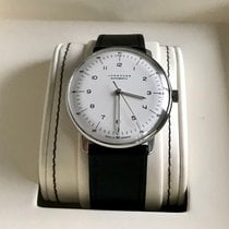 Junghans Steel Automatic White 38mm pre-owned max bill Automatic