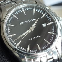 Hamilton Jazzmaster Viewmatic pre-owned Black Date Steel