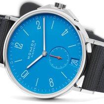 NOMOS Ahoi Datum Steel 40.3mm Blue Arabic numerals