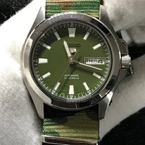 Seiko pre-owned Automatic 36mm Green Sapphire crystal