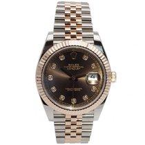 Rolex Datejust II Gold/Steel 40mm Brown
