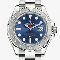 Rolex Yacht-Master 40 Платина 40mm Синий Без цифр