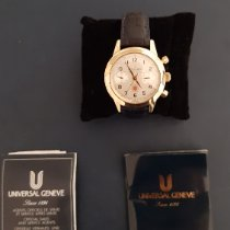 Universal Genève Yellow gold Automatic Silver Arabic numerals 37mm pre-owned Compax