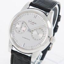 Glashütte Original Senator Hand Date Steel 40mm Silver No numerals