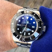 Rolex Sea-Dweller Deepsea Aço 44mm Azul Sem números