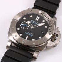Panerai Luminor Submersible 1950 3 Days Automatic Titanium 47mm Black No numerals