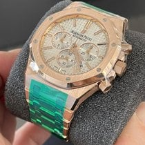 Audemars Piguet Royal Oak Chronograph Rose gold 41mm Silver No numerals United States of America, New York, Brooklyn