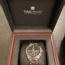 TAG Heuer Link Quartz pre-owned 42mm Black Chronograph Date Tachymeter Steel