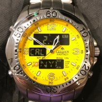 Citizen Promaster pre-owned Yellow Date Weekday Month GMT Steel