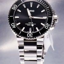Oris Aquis Date Steel 39.5mm Black No numerals