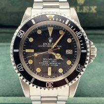 Rolex Sea-Dweller Stal 40mm Czarny Bez cyfr