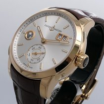 Ulysse Nardin Dual Time Rose gold 42mm Silver No numerals United States of America, California, Los Angeles