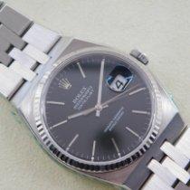 Rolex Datejust Oysterquartz подержанные 36mm Черный Дата Сталь