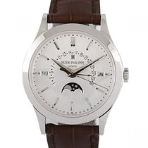 Patek Philippe Perpetual Calendar Platinum 39.5mm Silver No numerals UAE, Dubai