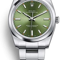 Rolex Air King Ocel 34mm Zelená Arabské