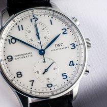 IWC Portuguese Chronograph Stal 41mm Biały Arabskie Polska, Warszawa