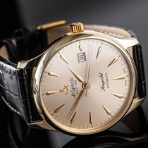 Atlantic Yellow gold Automatic Gold No numerals 38mm pre-owned