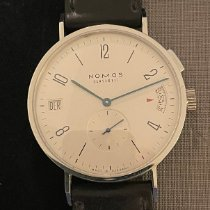 NOMOS Tangomat GMT pre-owned 40mm White GMT Leather