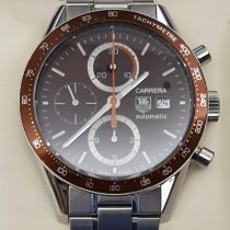 TAG Heuer Carrera Calibre 16 pre-owned 41mm Brown Chronograph Date Steel