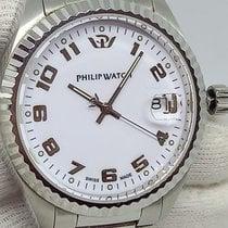 Philip Watch Caribe Steel 42mm White No numerals