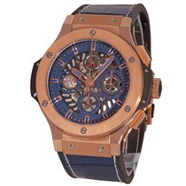 Hublot Red gold Automatic Blue No numerals 44mm new Big Bang Aero Bang