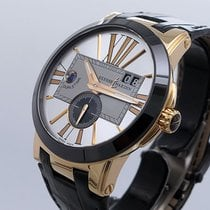 Ulysse Nardin Executive Dual Time Rose gold 43mm Silver Roman numerals United States of America, California, Los Angeles