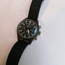 IWC Titanium Automatic Black Arabic numerals 43mm pre-owned Pilot Chronograph Top Gun