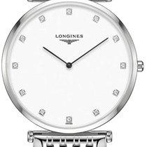Longines Steel Quartz White 37mm new La Grande Classique