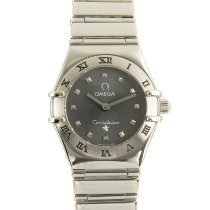 Omega Constellation Ladies Сталь 22.5mm Cерый
