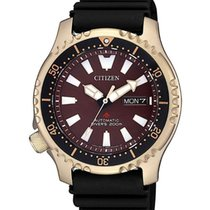 Citizen Tantalum Automatic Red No numerals 42mmmm new Promaster