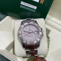 Rolex Steel Automatic Silver No numerals 35mm pre-owned Yacht-Master