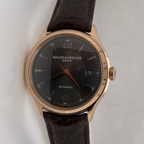 Baume & Mercier Clifton Rose gold 39mm Grey Arabic numerals