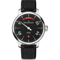 Meistersinger Urban Steel 40mm Black Arabic numerals