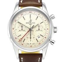 Breitling Transocean Chronograph GMT Steel 43mm Silver Arabic numerals