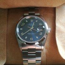 Rolex Oyster Perpetual Date Zeljezo Plav-modar Arapski brojevi