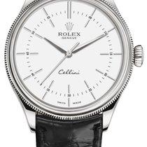 Rolex Cellini Time Oro blanco 39mm Blanco Sin cifras